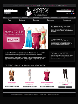 Online store for maternity clothes